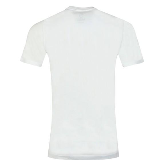 Luke Sport Mens White Freedom Embroidery Detail T-Shirt main image