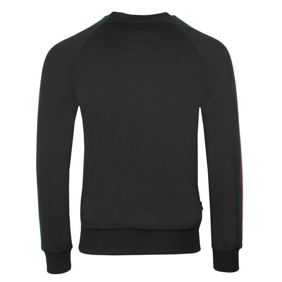 Luke Sport Mens Black Daley Vintage Tape Sweatshirt main image