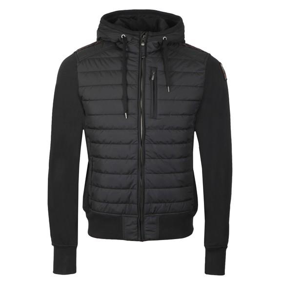 Parajumpers Mens Black Ivor Mixed Fabric Jacket
