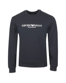 Emporio Armani Mens Blue The Eagle Brand Sweatshirt