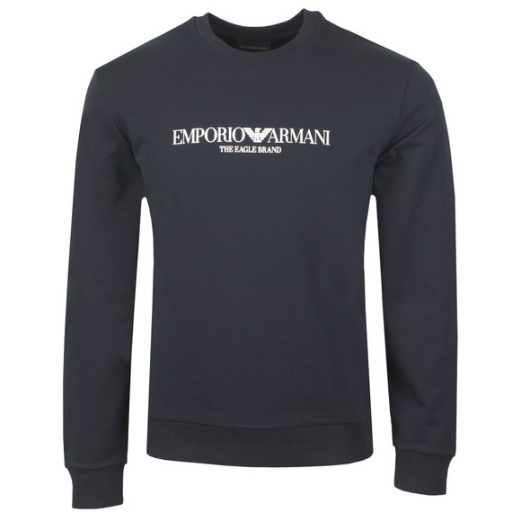 Emporio Armani Mens Blue The Eagle Brand Sweatshirt