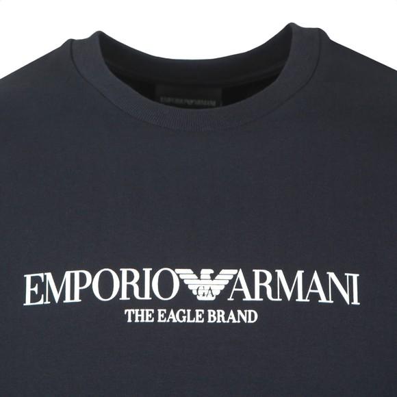 Emporio Armani Mens Blue The Eagle Brand Sweatshirt main image