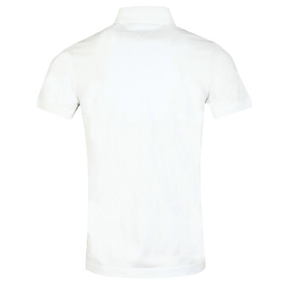 Tommy Hilfiger Mens White Pocket Detail Slim Polo main image