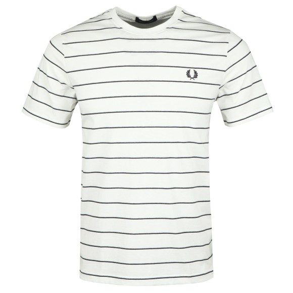 Fred Perry Mens Off-White Fine Stripe T-Shirt