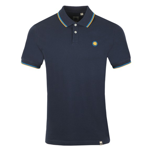 Pretty Green Mens Blue New Tipped Polo Shirt