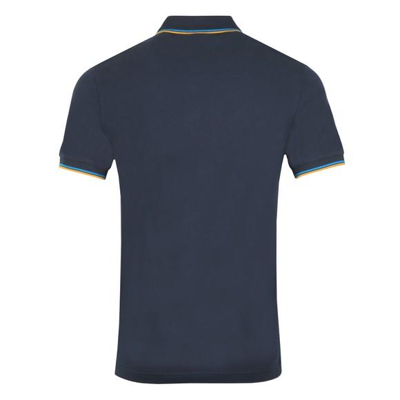Pretty Green Mens Blue New Tipped Polo Shirt main image
