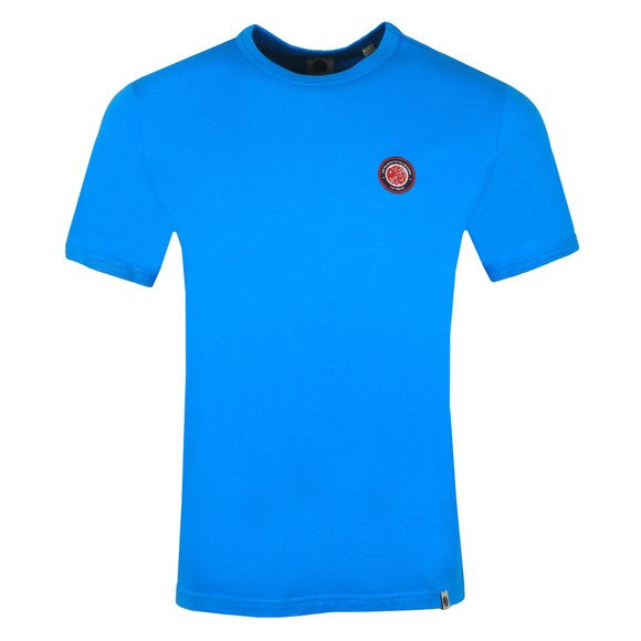 Pretty Green Mens Blue Likeminded Chest Badge T-Shirt
