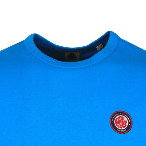 Pretty Green Mens Blue Likeminded Chest Badge T-Shirt main image