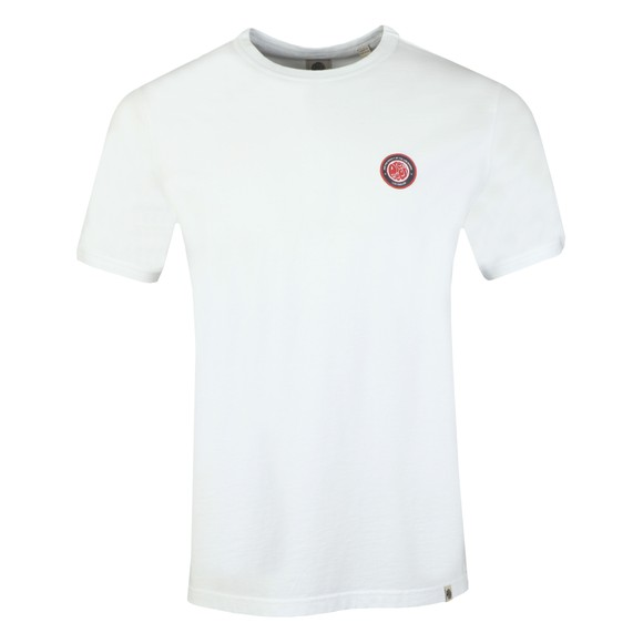Pretty Green Mens White Likeminded Chest Badge T-Shirt main image