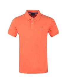 Gant Mens Orange Contrast Collar Rugger Polo Shirt