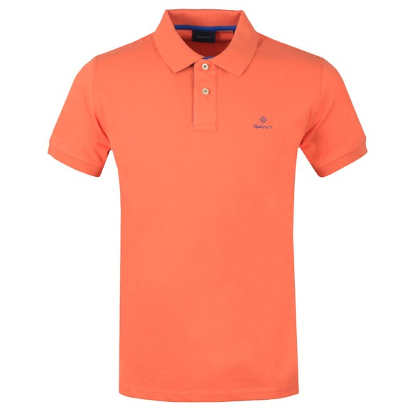 Gant Mens Orange Contrast Collar Rugger Polo Shirt main image
