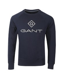 Gant Mens Blue Lock-Up Sweatshirt