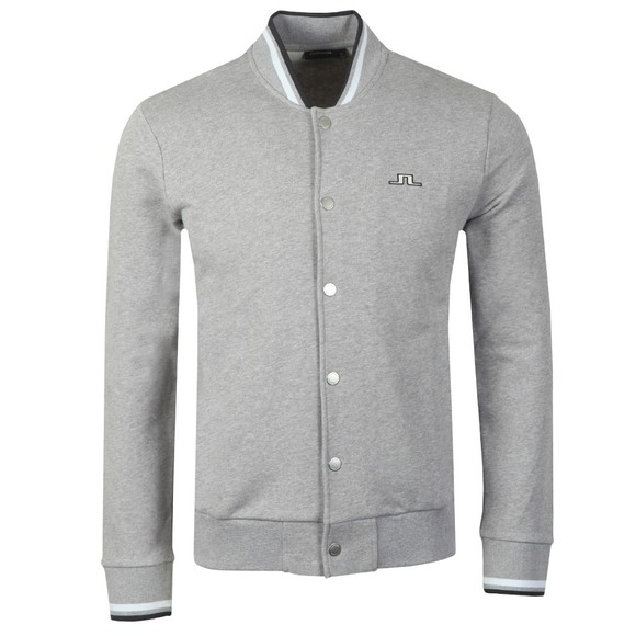 J.Lindeberg Mens Grey Jasper Ring Loop Buttoned Sweatshirt
