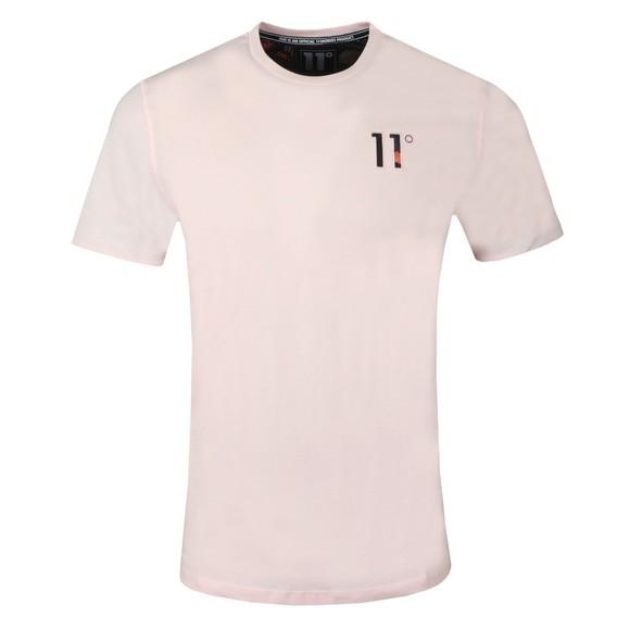 Eleven Degrees Mens Pink Logo T-Shirt