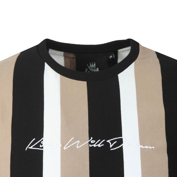 Kings Will Dream Mens Multicoloured Kingsley Stripe T-Shirt main image
