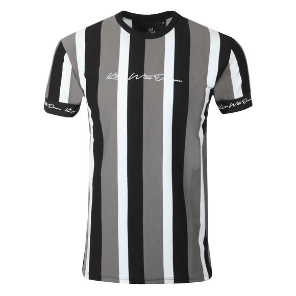 Kings Will Dream Mens Black Kingsley Stripe T-Shirt