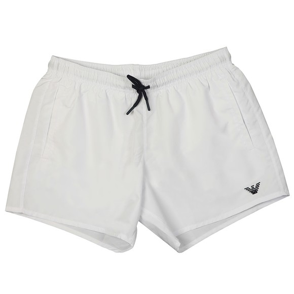Emporio Armani Mens White Embroidered Eagle Swim Short main image