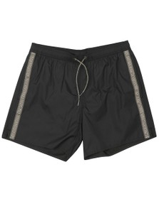 Emporio Armani Mens Black Small Taped Logo Swim Short