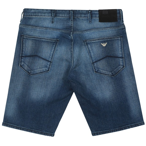 Emporio Armani Mens Blue 5 Pocket Denim Short main image