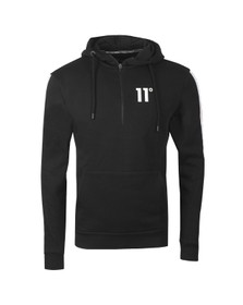 Eleven Degrees Mens Black Taped 1/4 Zip Sweatshirt