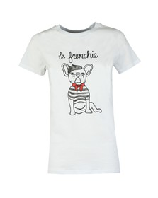 French Connection Womens White Le Frenchie Short Sleeve T Shirt