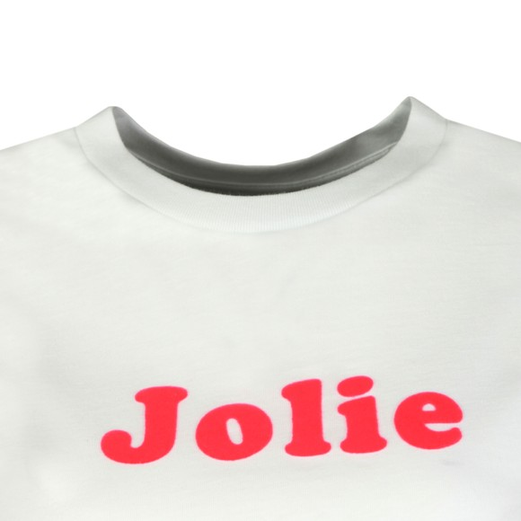 French Connection Womens White Neon Flocking French Jolie T Shirt main image