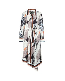 French Connection Womens Blue Asha Mix Print Handkerchief Dress