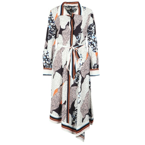 French Connection Womens Multicoloured Asha Mix Print Handkerchief Dress