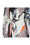 French Connection Womens Blue Asha Mix Print Handkerchief Dress