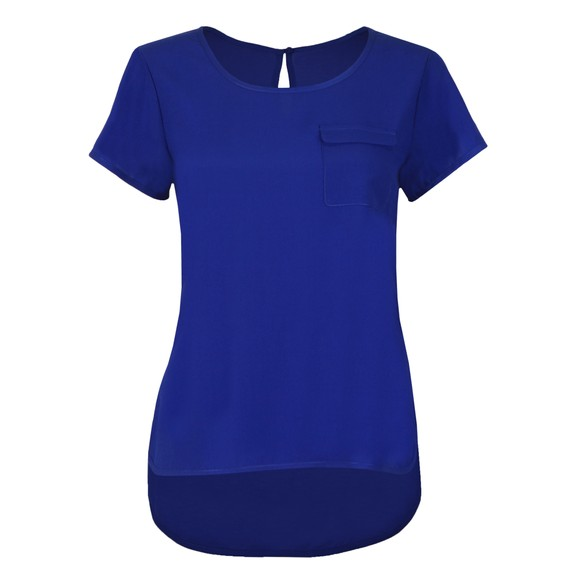 French Connection Womens Blue Abena Light Round Neck Top