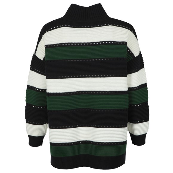 French Connection Womens Blue Liliya Stripe High Neck Knit Jumper main image