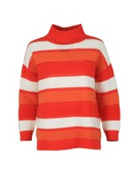 Liliya Stripe High Neck Knit Jumper