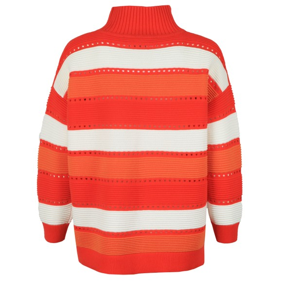 French Connection Womens Red Liliya Stripe High Neck Knit Jumper