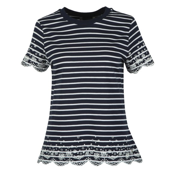 Superdry Womens Blue Summer Schiffli T-Shirt