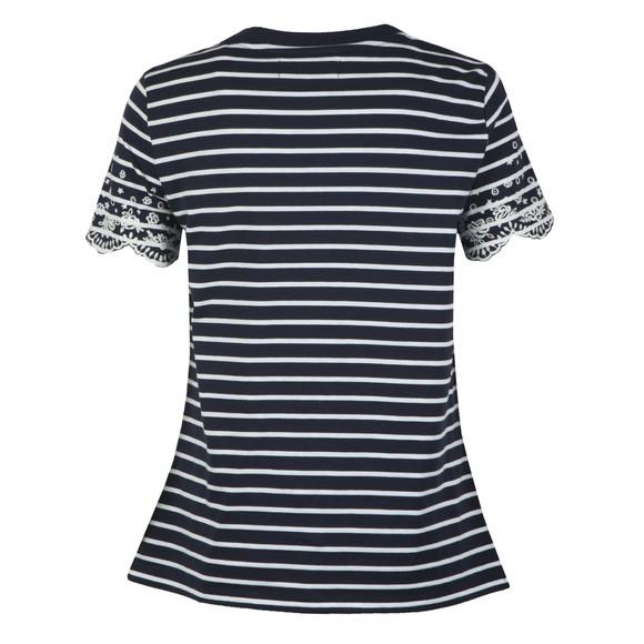Superdry Womens Blue Summer Schiffli T-Shirt main image