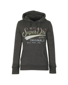 Superdry Womens Grey Glitter Entry EB Hoody