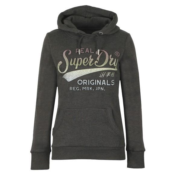 Superdry Womens Grey Glitter Entry EB Hoody