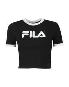 Fila Womens Black Tionne Crop T-Shirt