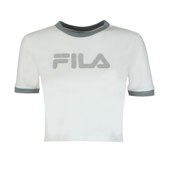 Fila Womens White Tionne Crop T-Shirt main image