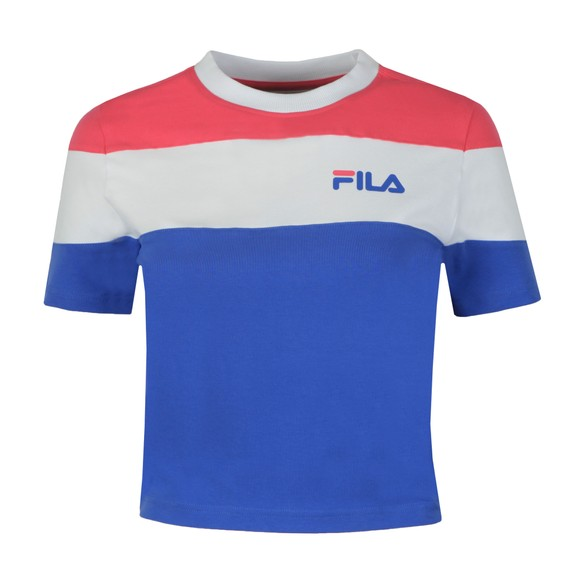 Fila Womens Blue Maya Crew Crop T-Shirt