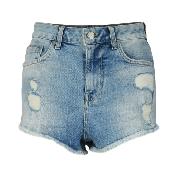 Superdry Womens Blue Cut Off Short main image