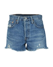 Levi's Womens Blue 501 High Rise Short