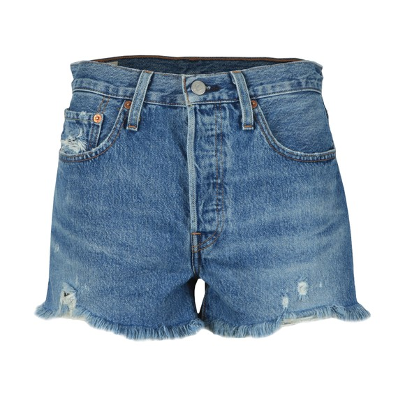 Levi's Womens Blue 501 High Rise Short