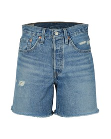 Levi's Womens Blue 501 Mid Length Short