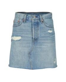 Levi's Womens Blue High-Rise Deconstructed Skirt