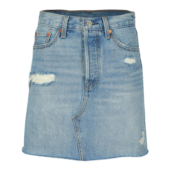 Levi's Womens Blue High-Rise Deconstructed Skirt main image