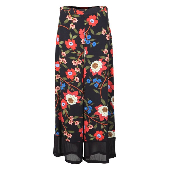French Connection Womens Blue Eloise Drape Printed Trouser