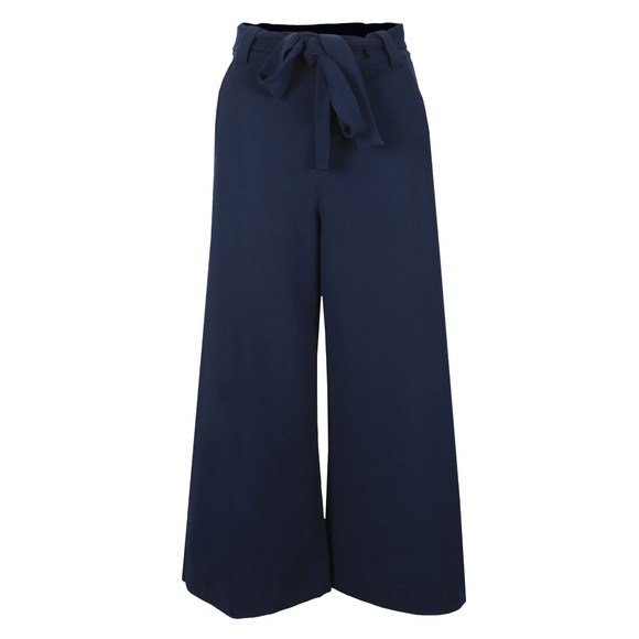 French Connection Womens Blue Boh Whisper Cropped Flare Trouser