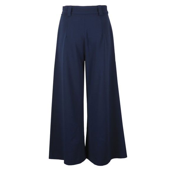 French Connection Womens Blue Boh Whisper Cropped Flare Trouser main image