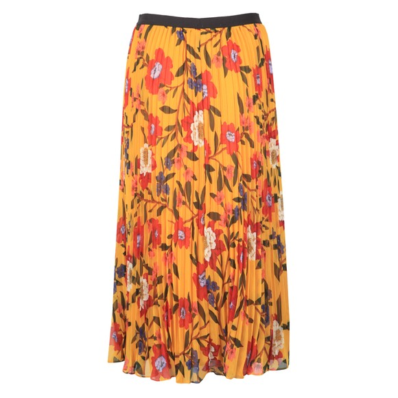 French Connection Womens Yellow Eloise Crinkle Midi Skirt main image